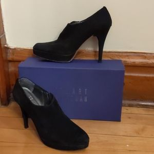 Stuart weitzman platform ankle booties with box